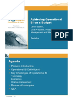 Achieving Operational BI on a Budget