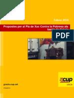 Propostes pel Grup de Treball contra la Pobresa a Gràcia