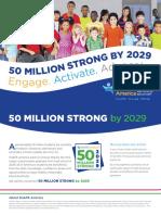 shape america-50 million strong brochure