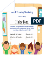 alice training workshop - haley byrd