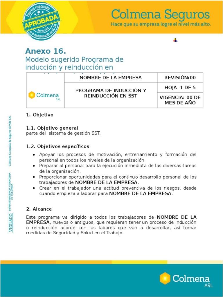 Lujo Plantilla De Inducción Del Personal Colección - Ejemplo De ...