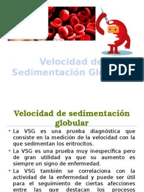 Velocidad de sedimentacion de eritrocitos