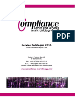 2014 Service Catalogue en Compliance Microbiology