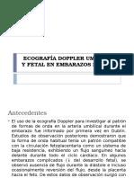 Ecografía Doppler Umbilical y Fetal