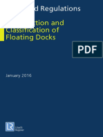 Rules and Regulations for the Construction and Classification of Floating Docks
