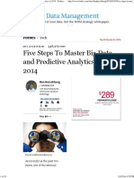 Five Steps to Master Big Data and Predictive Analytics in 2014 - Forbes