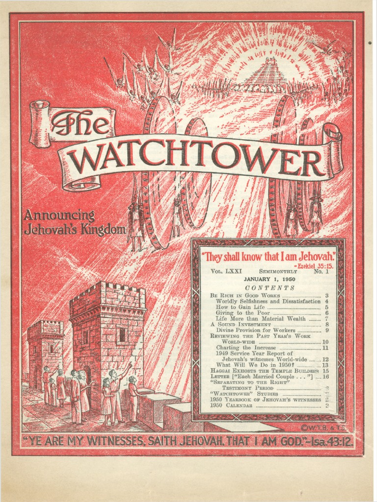 Watchtower: 1950 issues | The Gospel | Eternal Life (Christianity)
