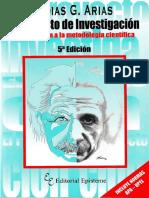 Fidias G. Arias, El Proyecto de Investigación, 5ta. Edición