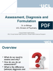 Assessment, Diagnosis and Formulation