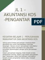 Modul 1 – Akuntansi Kos -Pengantar