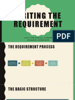 Writing the Requirement