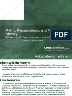 Myths, Presumptions, and Facts about Obesity