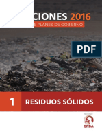 Analisis de Planes de Gobierno - Residuos Solidos