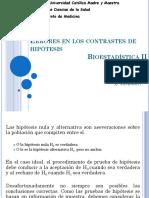 Tipos de Errores de Hipotesis en Bioestadistica