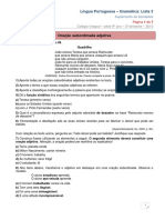 2013 9ano 2bim Gramatica Lista3 (1) Oraçoes Adjetivas