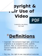copyright   fair use of video