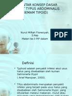 Pengantar Konsep Dasar Penyakit Typus Abdominalis (Demam