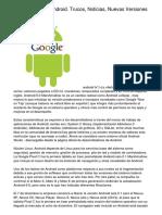 Lo Último Sobre Android. Trucos, Noticias, Nuevas Versiones