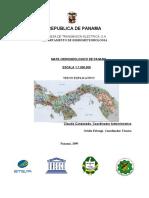 Nota Explicativa Hidrogeologico de Panamá