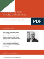 Teoría de Carteras Modelo de Markowitz