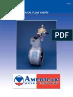 Valvulas de flujo axial para gas combustible