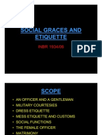 Social Graces and Etiquette