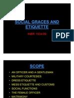Social Graces and Etiquette