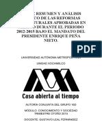 Reformas estructurales del gobierno de Enrique Peña Nieto