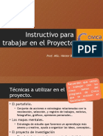 Instructivo Proyecto Cívica 12