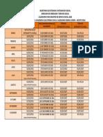 Calendario 2016 Servicio Social IPN