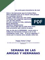 Día de Las Hermanas y Amigas