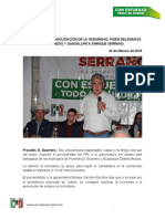 16-02-24 MÁS EMPLEO Y CONSOLIDACIÓN DE LA SEGURIDAD, PIDEN DELEGADOS DE PRAXEDIS Y GUADALUPE A ENRIQUE SERRANO