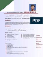 Resume of Arnab Bagchi