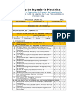 RUBRICA ANALITICA - Evaluar La Propuesta de Mejora Al Plan y Programa de Produccion - 2014