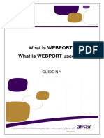 What is WEBPORT Used For