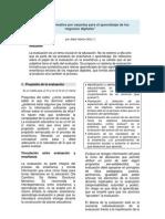 Evaluación formativa por carpetas para el aprendizaje de los negocios digitales