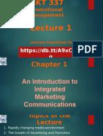 Chapter 1 MKT 337