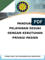 Panduan  PELAYANAN SESUAI KEBUTUHAN PRIVASI PASIEN.docx