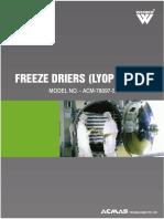 Freeze Drier Lypholizer