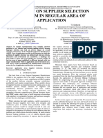 A REVIEW ON SUPPLIER SELECTION PROBLEM IN REGULAR AREA OF APPLICATION