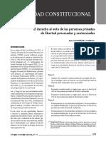 El Derecho Al Voto de Las Personas Privadas de Libertad...