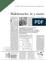 González, Oscar - Malebranche. Fe y Razón