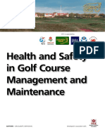 Golfcourse Health and Safety Management