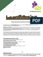 Newark Speaks Municipal Election Debate Series Press Release