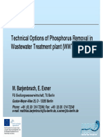 3. Technical Options of Phosphorus Removal in WWTP_Matthias Barjenbruch