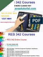 RES 342 Academic Success/snaptutorial