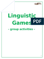 Linguistic Games - Group Activities - Cover and Contents