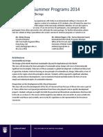 VSP 2014 Course Package Descriptions Final Feb. 11 2014
