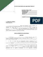 CONCLUSIONES NO ACUSATORIAS DEL MINISTERIO PÚBLICO