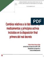 Cambios Fabricacion Med C Gomez Chacon